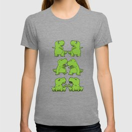 T-Rex Fusion Short Arms Dino funny gift T-shirt