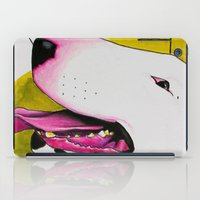 bull terrier iPad Cases featuring Bull Terrier by Erin Shea