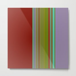 LILAC & RED Metal Print