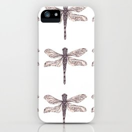 Dragonfly Print iPhone Case