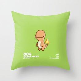 004 Charmander Throw Pillow