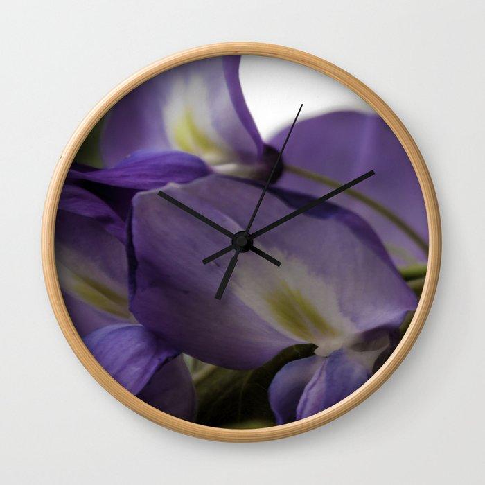 Purple Wisteria  Wall Clock