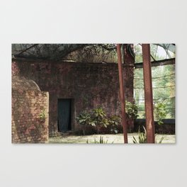 abandoned tiger cage Canvas Print
