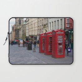 Telephone Booths Royal Mile Edinburgh Laptop Sleeve