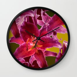 Beautiful Flowers on Fall Colors #decor #society6 #buyart Wall Clock