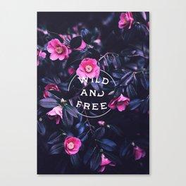 Wild and free (botanic) Canvas Print