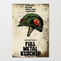 full metal alchemist Canvas Prints featuring Full Metal Biochip by maclac