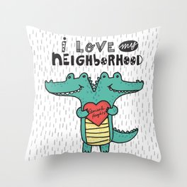 Swampy Heights Throw Pillow