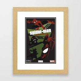 Spider-man Poster Framed Art Print
