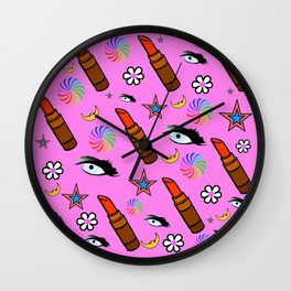 Eye Spy Makeup Wall Clock