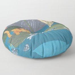 The Owl & Pussycat Floor Pillow