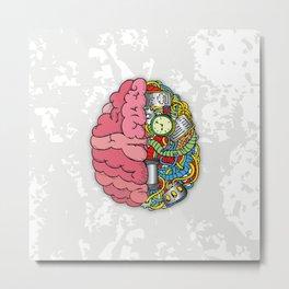 Bom Brain Metal Print