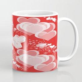 Floating Hearts And Flowers Coffee Mug