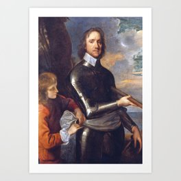 Oliver Cromwell portrait Art Print