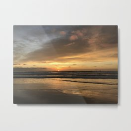 Mission Beach Sunset Metal Print