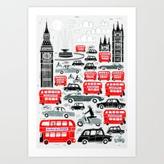 London Traffic Art Print