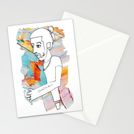 Love Man Bun Hipster Guy Stationery Cards