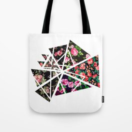 Triange Flowers Tote Bag