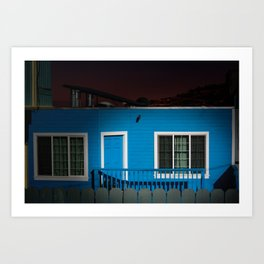 Blue House on a Hill - San Francisco Art Print