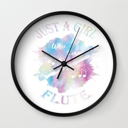 Flutes Musical Instrument -Just A Girl Who Loves Flute Gift Wall Clock