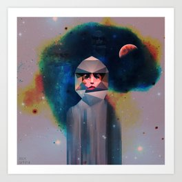 All I Think About Is Space Art Print