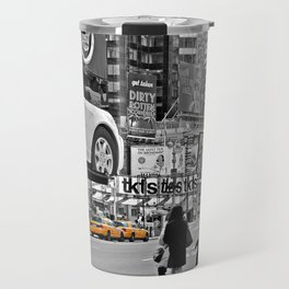 NYC - Yellow Cabs - Times Square Travel Mug