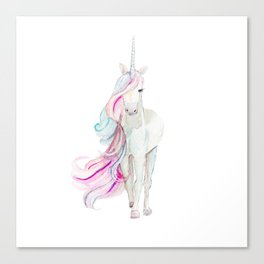 Watercolor Unicorn Canvas Print