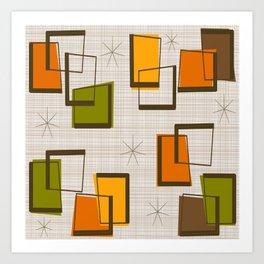 Rectangles and Stars Art Print