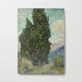 Cypresses Metal Print