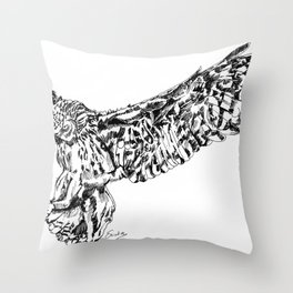 FLOWL Throw Pillow
