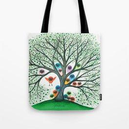 Teton Owls in Tree Tote Bag