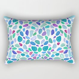 Scattered Sea Glass Pattern Rectangular Pillow