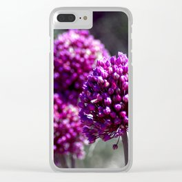 Wilde Onion Pink Flowers Clear iPhone Case