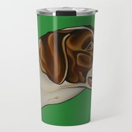 Boone the Pointer with ATM collar  Travel Mug