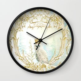 Owl Let it Snow Wall Clock