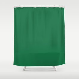 Dark Spring Green Shower Curtain