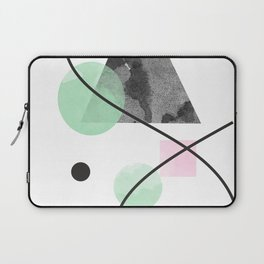 abstract print, shape, line, circle, triangle, rectangle Laptop Sleeve