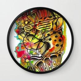Rad Leopard Wall Clock