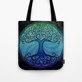 Tree of Life - Cool Blue Tote Bag