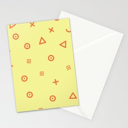 Happy Particles - Yellow Stationery Cards