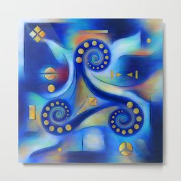 Anabressia - blue spiral planet Metal Print