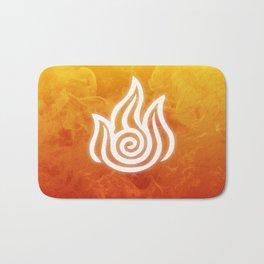 Avatar Fire Bending Element Symbol Bath Mat