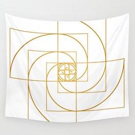 Golden Pinwheel Wall Tapestry