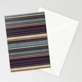 """""""Blue lines burlap"""" Stationery Cards"""