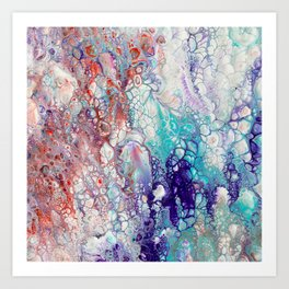 Fantasy (red, blue, purple) Art Print