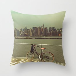 A Green Point Of View Throw Pillow