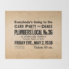 Party at the Plumbers Local No. 36 Throw Blanket