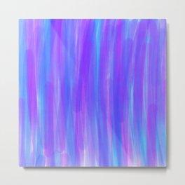 Moonlight Blue Purple and Fuschia Watercolor Metal Print