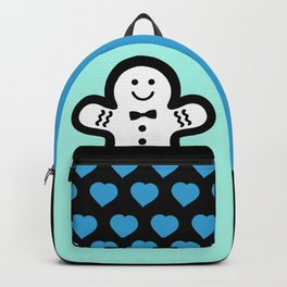 Pastel and Black Gingerbread Man Backpack