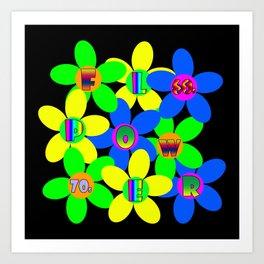 Flower Power 60s-70s Art Print
